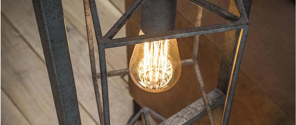 Stehleuchte Industriell aus Metall Antik 4 Lampen QUARTO