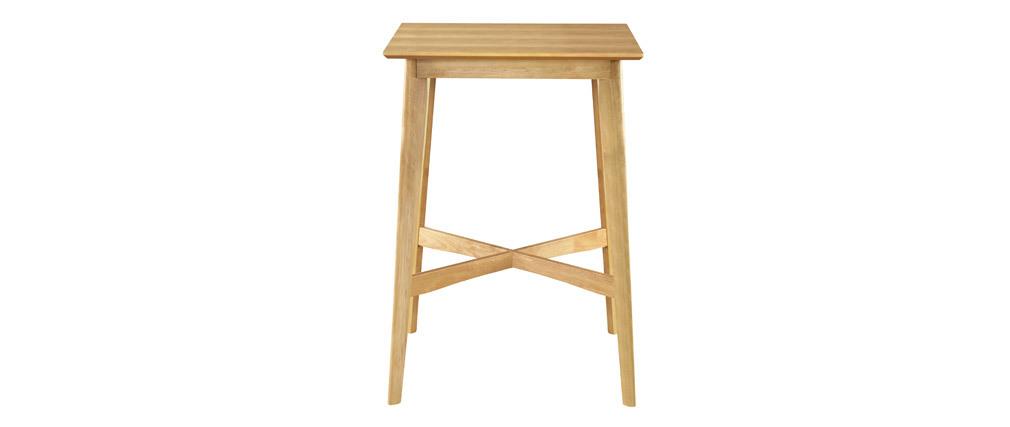 Stehtisch quadratisch helles Holz LEENA