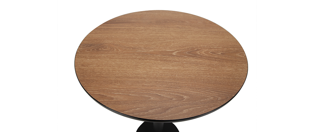 Stehtisch rund Holz und schwarz PENCO