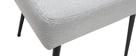 Stuhl hellgrauer Stoff und Metallbeine Schwarz LOV