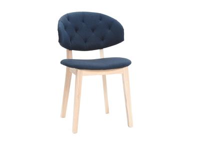 Stuhl in dunkelblauem Stoff SOFFY
