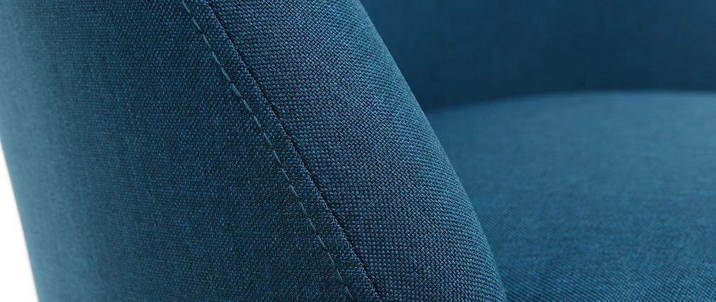 Stuhl skandinavisch Stoff Blaugrün Beine Holz hell LIV