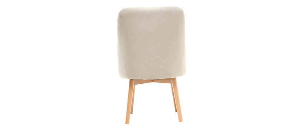 Stuhl skandinavisch Stoff naturfarben Beine Holz hell LIV