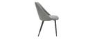 Stühle aus grauem Samtstoff mit Samteffekt (2er-Satz) ELLO