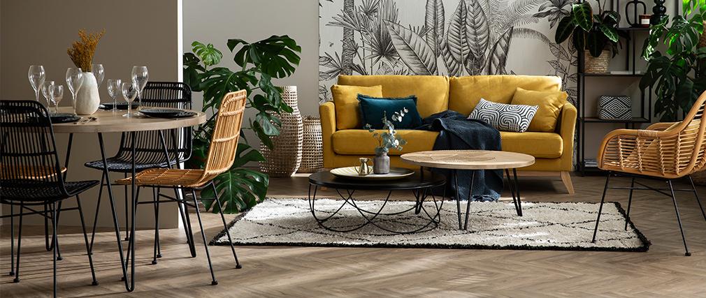 Stühle aus Rattan naturfarben 2-er Set MALACCA