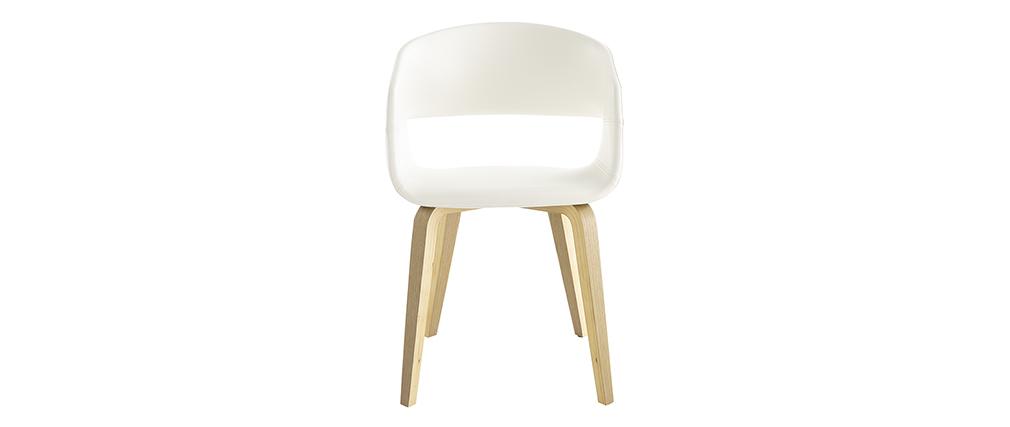 Stühle im skandinavischen Look weiß und Holz (2er-Set) SLAM