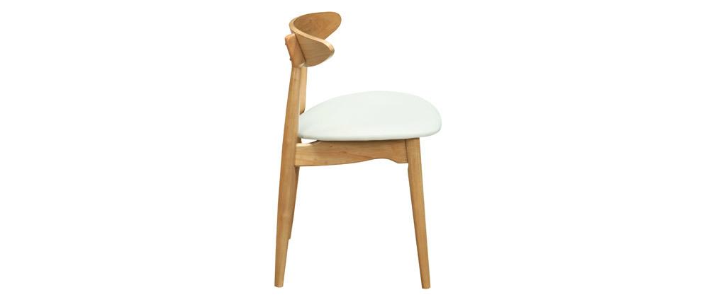 Stühle skandinavisch helles Holz Weiß (2er-Set) WALFORD