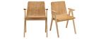 Stühle skandinavisches Design Eiche 2er-Set DANA