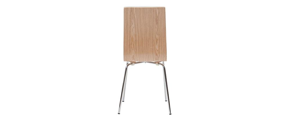 Stühle weiß und helles Holz mit Metallfüßen (2er-Set) DELICACY