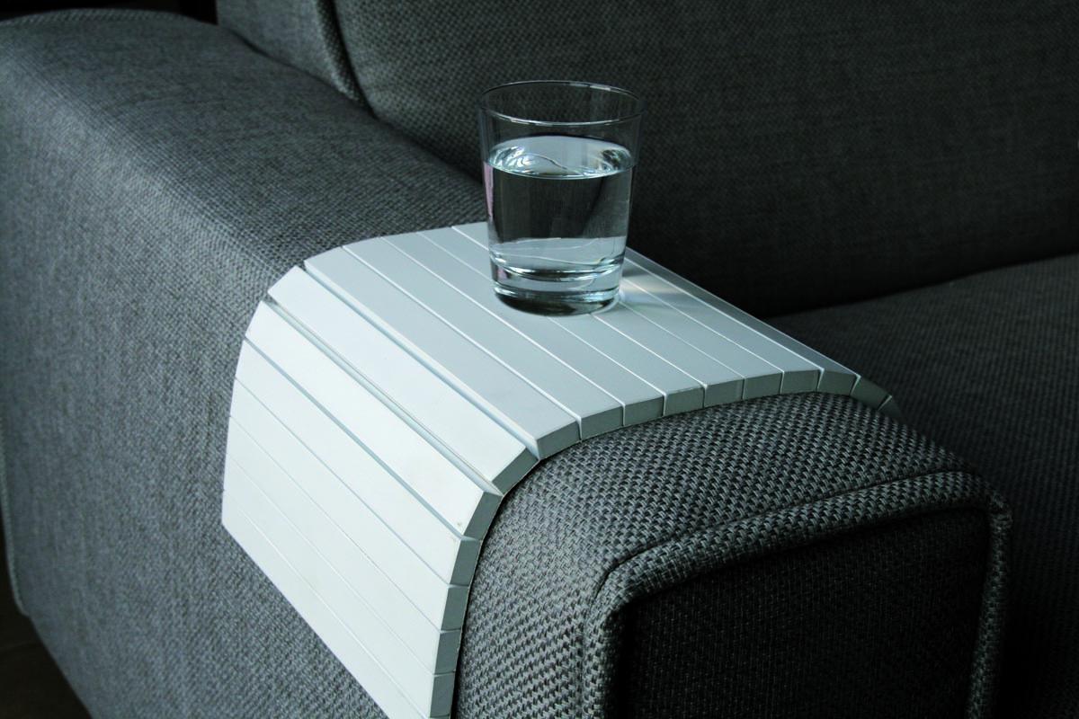 Tablett für Sofas FLEX Weiß