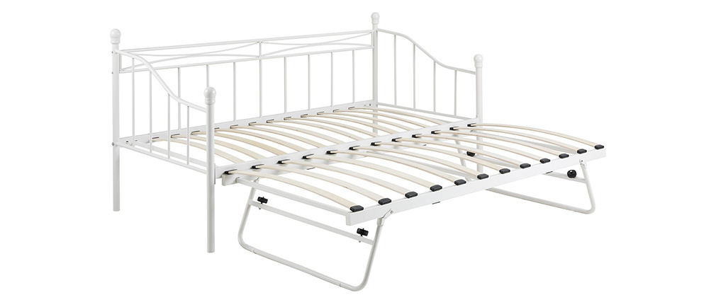 Tagesbett Metall Weiß JULIETTE