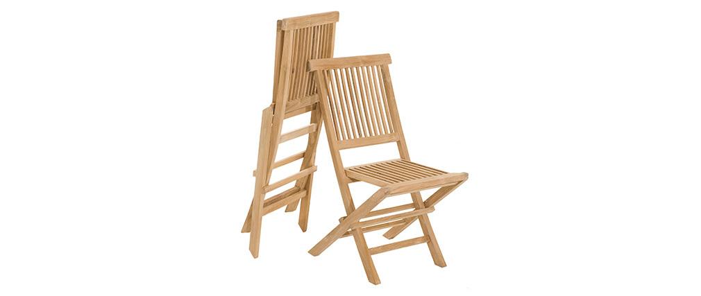 Teak Garten-Ensemble und 4 Stühle SABA