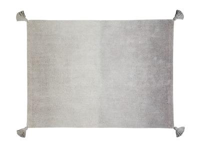 Teppich Baumwolle 120 x 160 cm Grau abgestuft TIE DYE