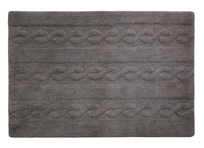 Teppich Baumwolle 120 x120 cm Anthrazitgrau INES