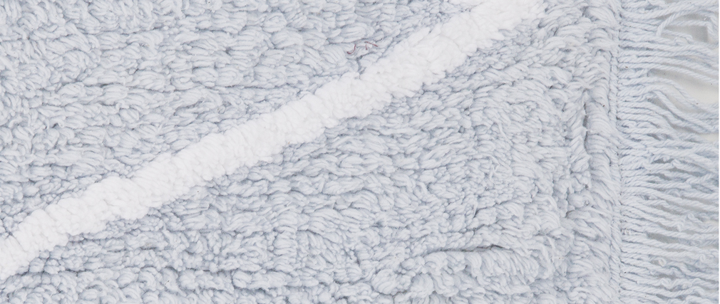 Teppich Baumwolle 120 x120 cm Blau ALISHIA