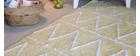 Teppich Baumwolle 120 x120 cm Gelb ALISHIA
