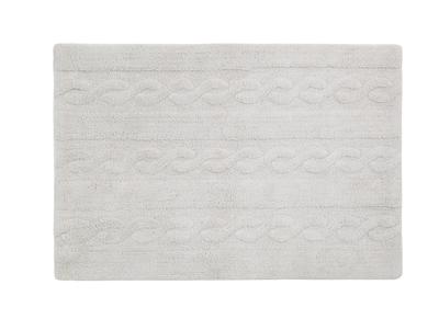 Teppich Baumwolle 120 x120 cm Perlgrau INES