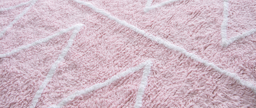 Teppich Baumwolle 120 x120 cm Rosa ALISHIA