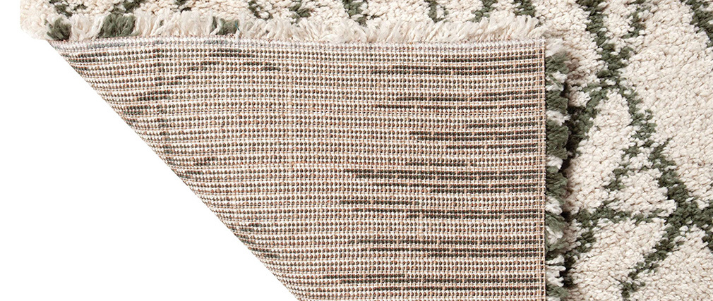 Teppich Beige und Khaki 160 x 230 cm PALMERAIE