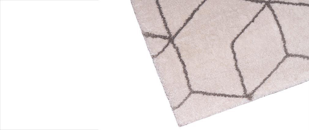 Teppich beigefarbene Raute 160 x 230cm NAWAL  Miliboo