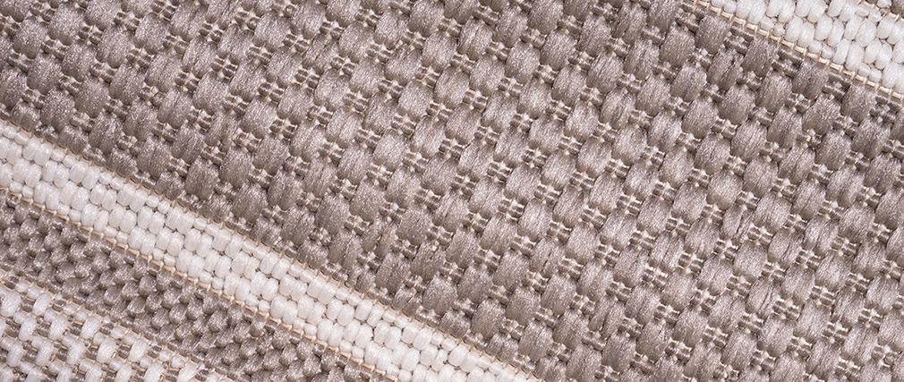 Teppich für den Außenbereich Beige gestreift 120 x 170 cm