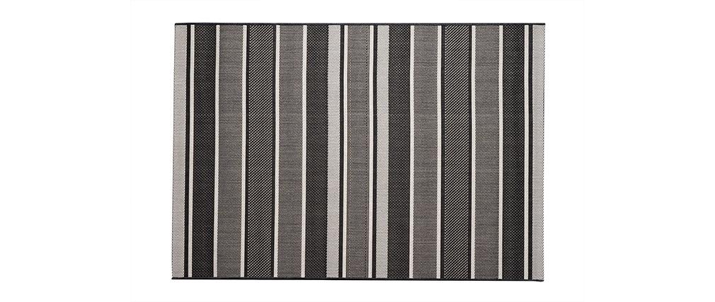 Teppich gestreift  Teppich für den Außenbereich Dunkelgrau gestreift 120 x 170 cm ...