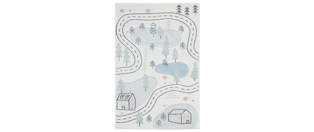 Teppich für Kinder mit Straßenmotiv 100 x 150 cm NINO