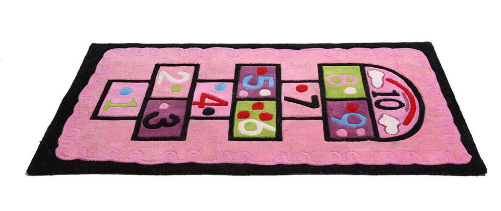 Teppich für Mädchenzimmer 80x150 MARELLE  Rosa