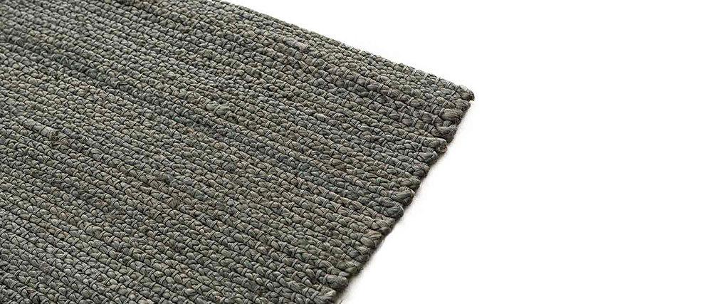 Teppich Grau Jute 200x230 Cm Gunny Miliboo
