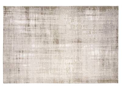 Teppich Hellgrau Acryl und Baumwolle 155x230 USED