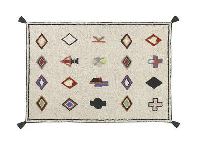Teppich mit Baumwollmotiven 140x200 cm LIMA
