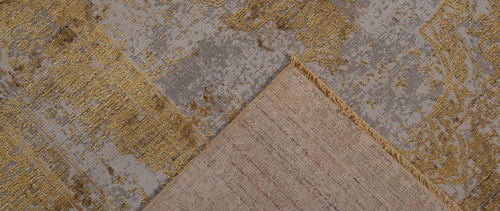 Teppich mit gelbem Abnutzungseffekt mit gewebtem Muster 160 x 230 cm PERSE