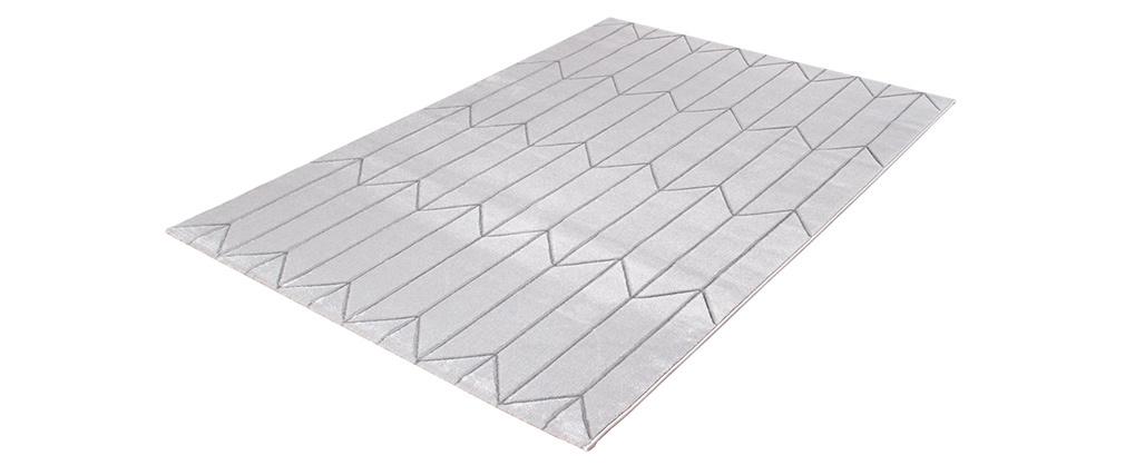 Teppich modern grau mit grafischen Motiven ARROWS