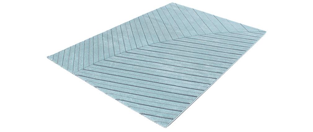 Teppich modern hellblau 160 x 230 cm PALM