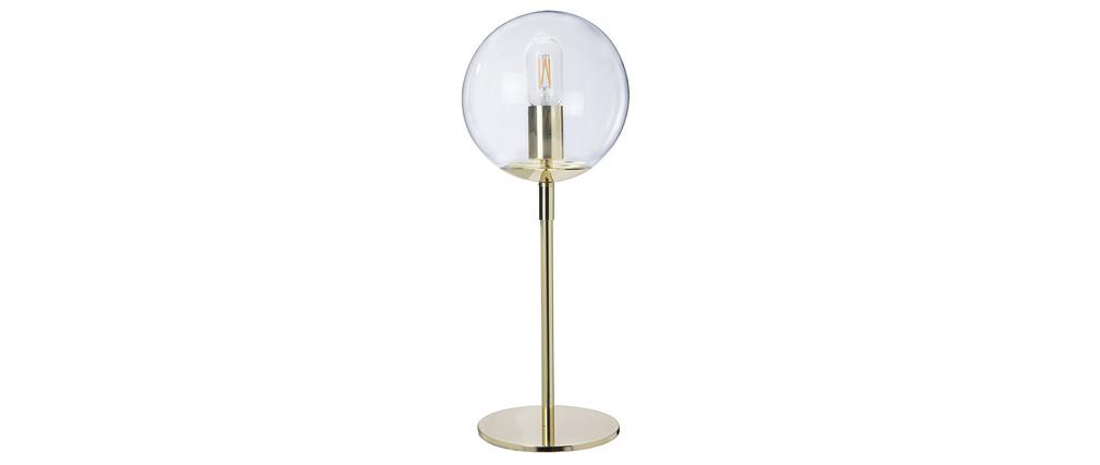 Tischlampe aus Metall Gold und Glas SOAP