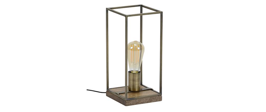 Tischlampe Industrial Antikbronze SOCKEL