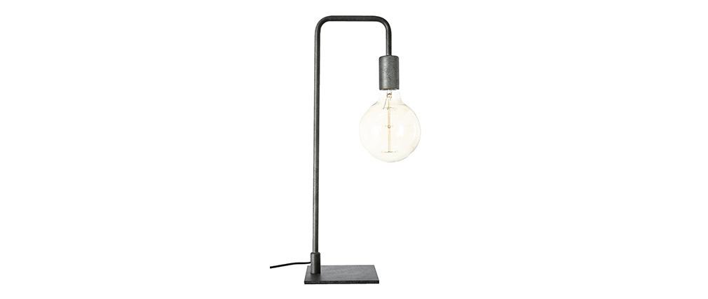 Tischlampe Industrial Metall schwarz GARBI