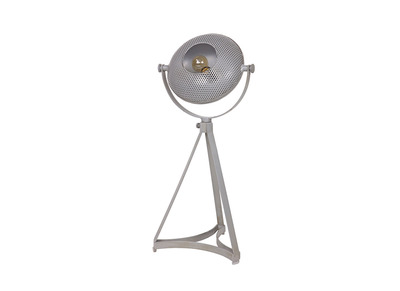 Tischlampe Industrie-Stil Metall Grau BLOUM