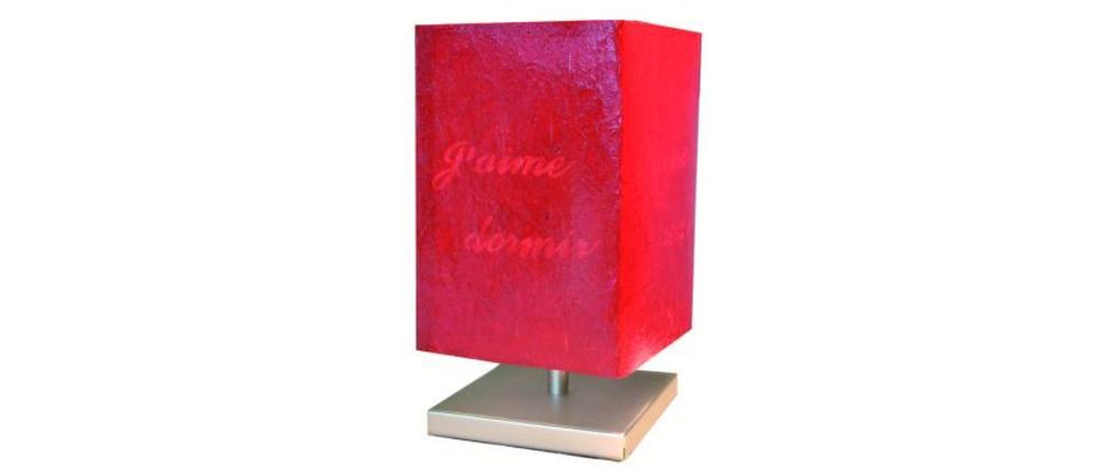 touch lampe message erh ltliche farbe rot miliboo. Black Bedroom Furniture Sets. Home Design Ideas