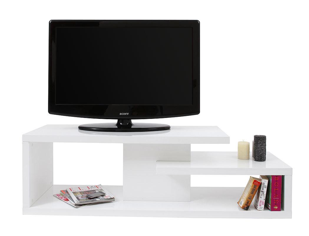 tv bank halton design lackiert weiss miliboo. Black Bedroom Furniture Sets. Home Design Ideas