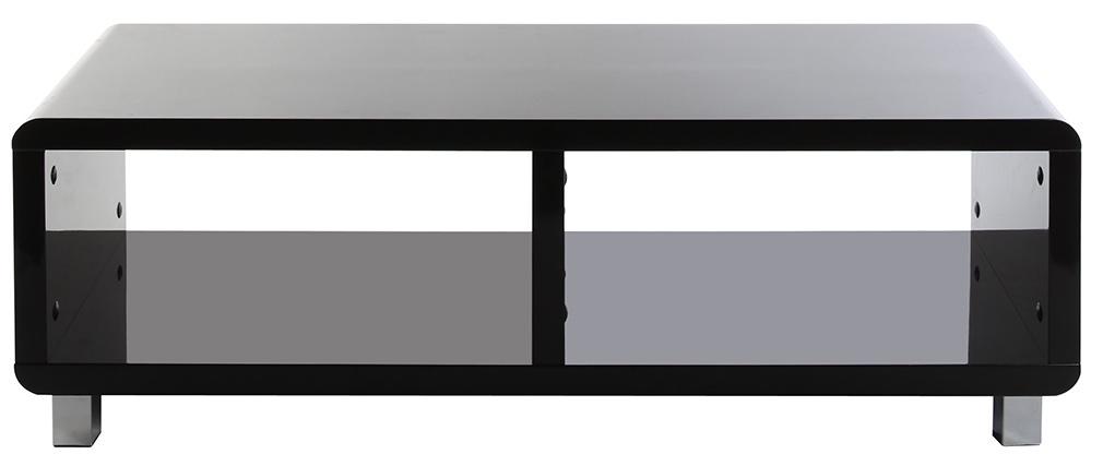 tv bank pixy design lackiert schwarz miliboo. Black Bedroom Furniture Sets. Home Design Ideas