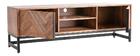 TV-Möbel aus Akazienholz und schwarzem Metall STICK