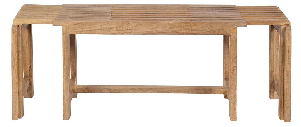 TV-Möbel erweiterbar aus Mangoholz SHUTTERS