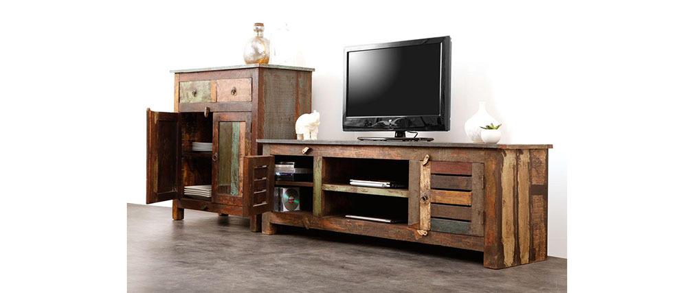 Tv möbel holz  TV-Möbel Holz recycelt MAYOTTE - Miliboo