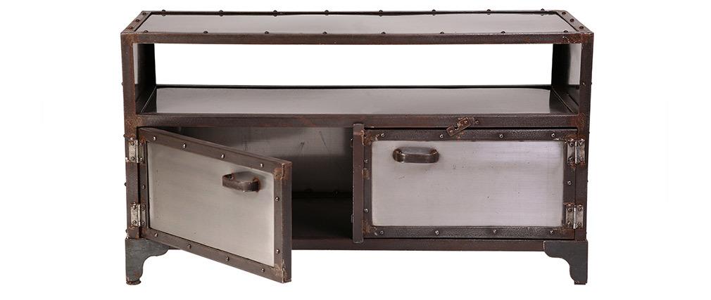 TV-Möbel Industrie-Metall 2 Türen FACTORY