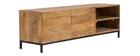 TV-Möbel industrieller Stil Mangoholz und Metall YPSTER