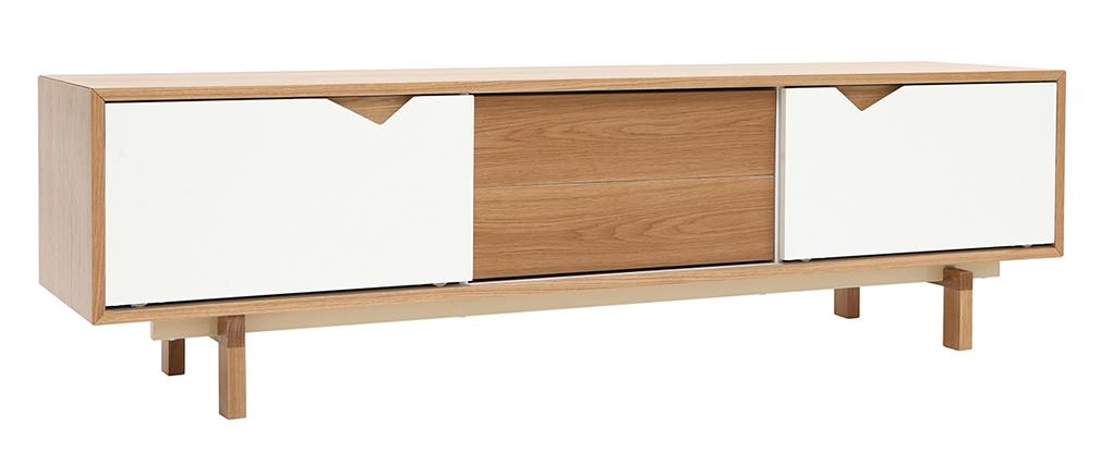 tv mobel skandinavisch anpassbar weiss und eiche acoustic