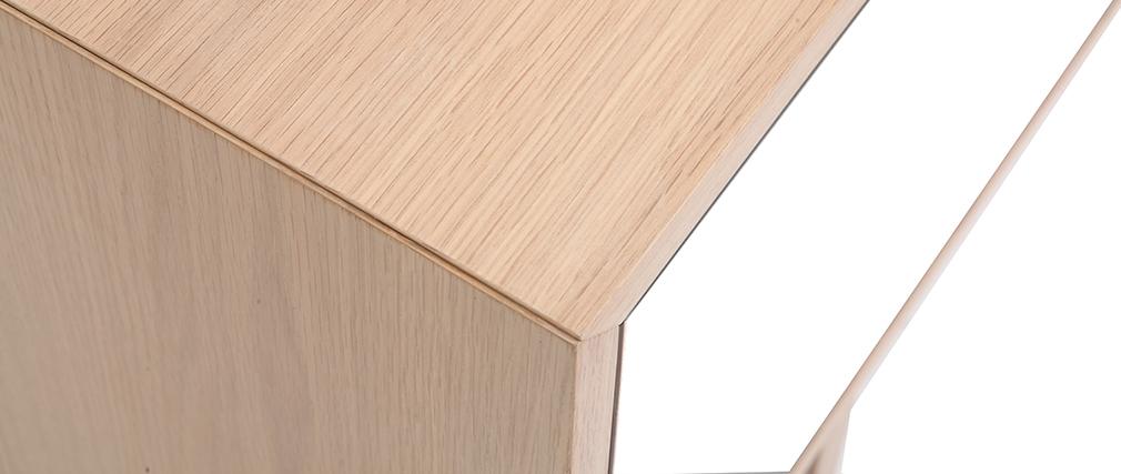 TV-Möbel skandinavisch Holz und Weiß 180 cm SID