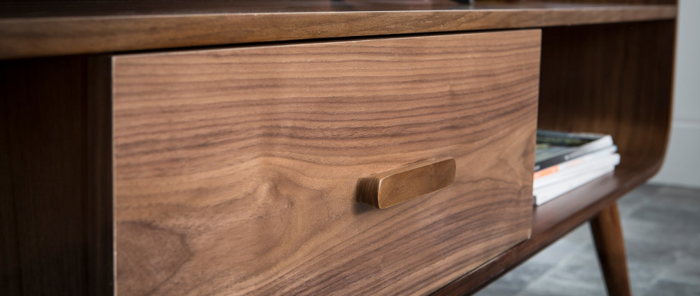 TV-Möbel Vintage Nussbaumholz 180 cm HALLEN