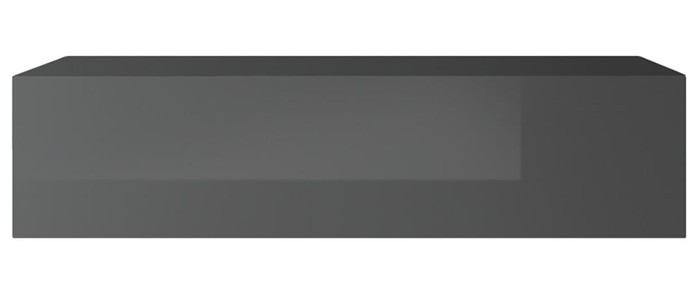 TV-Wandelement horizontal glänzend grau lackiert ETERNEL